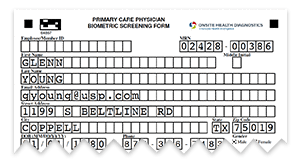 physician biometric screening form